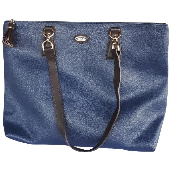 Bric's Blue Leather Handbag