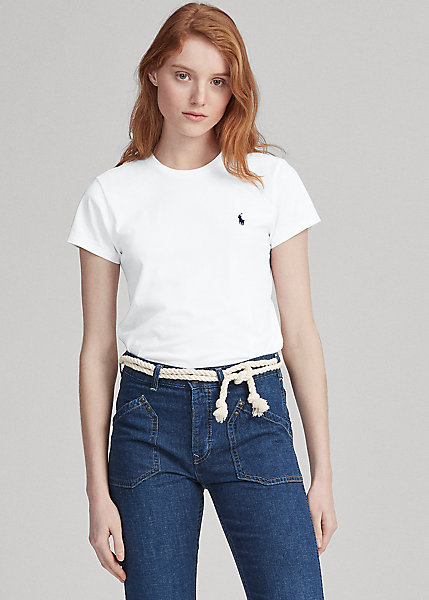 Ralph Lauren Cotton Crewneck T-shirt In White