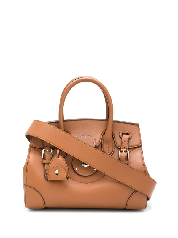 Ralph Lauren Nappa Leather Soft Ricky 33 In Brown