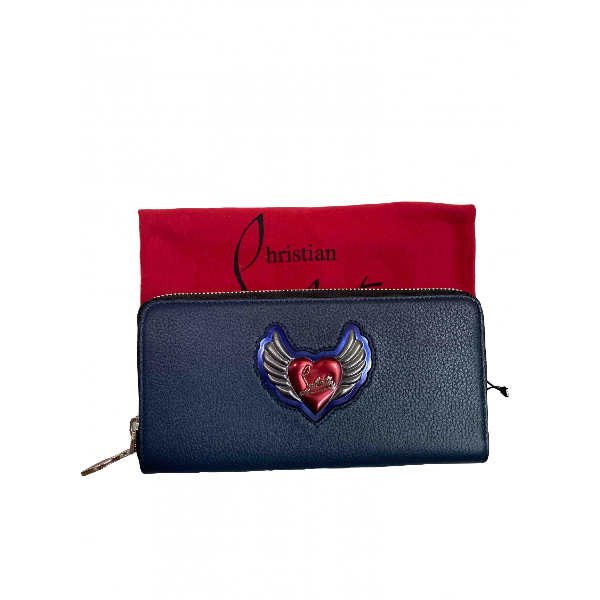 Christian Louboutin Blue Leather Wallet