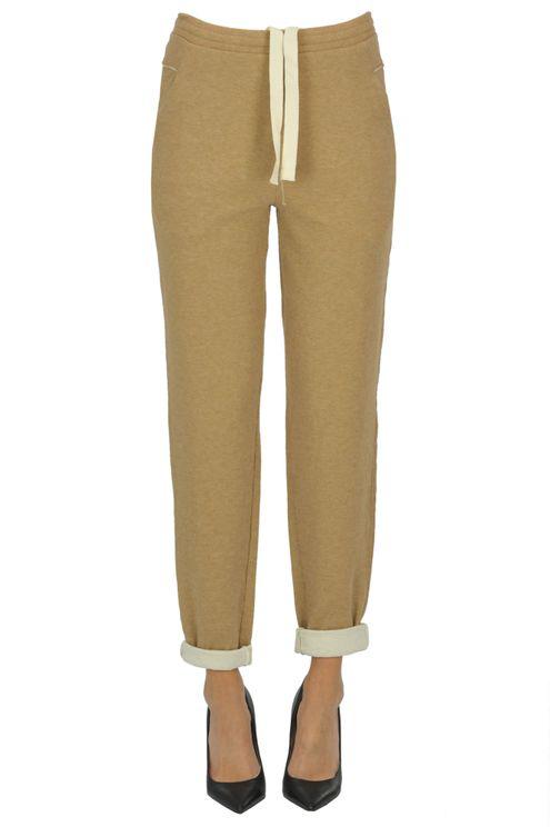 Humanoid Fleece Trousers In Brown