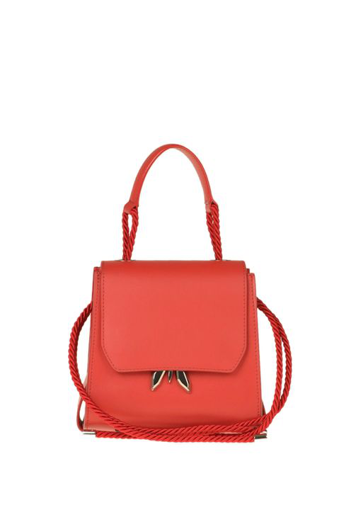 Patrizia Pepe Sleppy Fly Leather Bag In Red