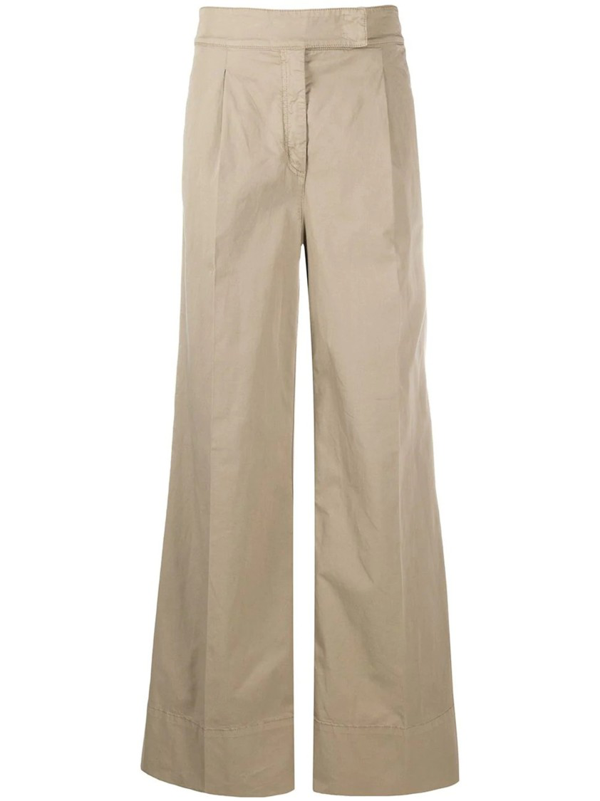 N°21 Women's 20en2m0b08100751193 Beige Cotton Pants In Neutrals
