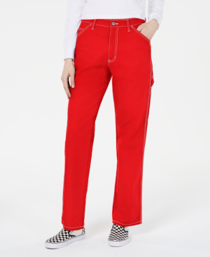 Dickies Relaxed Fit Carpenter Pants In Red
