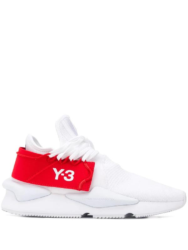 Y-3 Low White 'kaiwa Knit' Sneakers