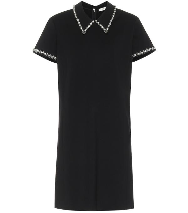 Dorothee Schumacher Emotional Essence Crystal-embellished Dress In Black