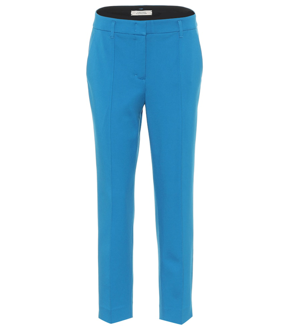 Dorothee Schumacher Emotional Essence Cropped Trousers In Blue