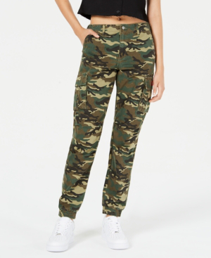 Dickies Juniors' Cargo Utility Joggers In Olive Camo