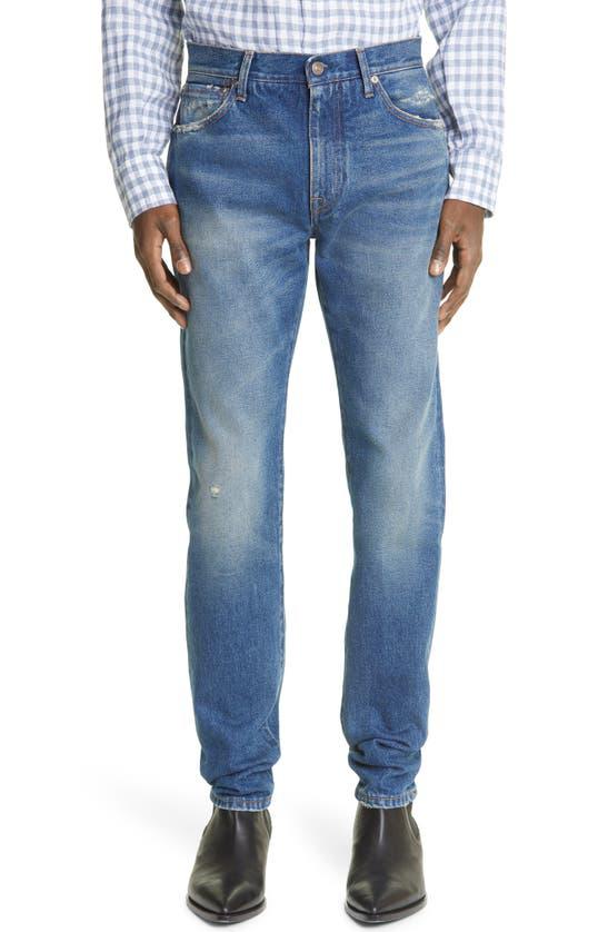 Alanui Senita Skinny Rigid Jeans In Deep Blue Deep Blue