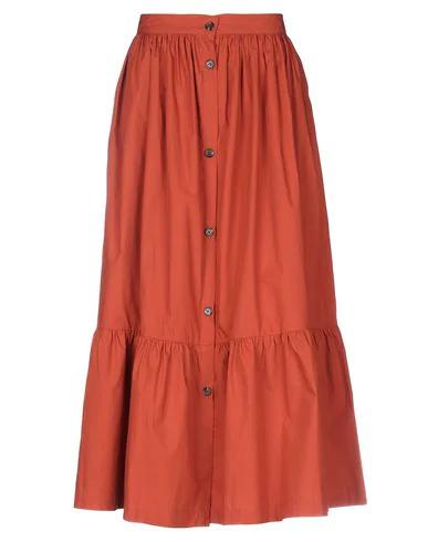 Soeur Delhi Midi Skirt In Rust