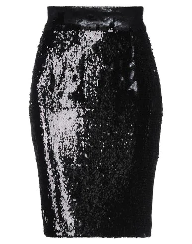 Dondup Sequined Pencil Skirt In Black