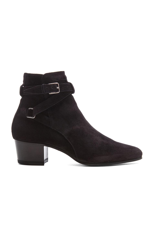 Saint Laurent Blake Suede Jodhpur Boots - Charcoal