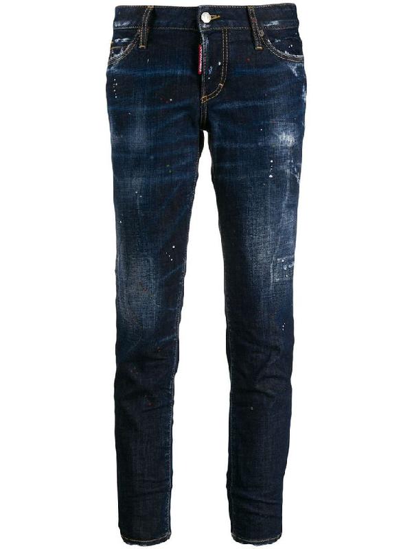 Dsquared2 Women's Blue Cotton Jeans