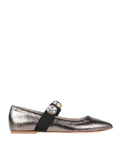 Polly Plume Ballet Flats In Lead