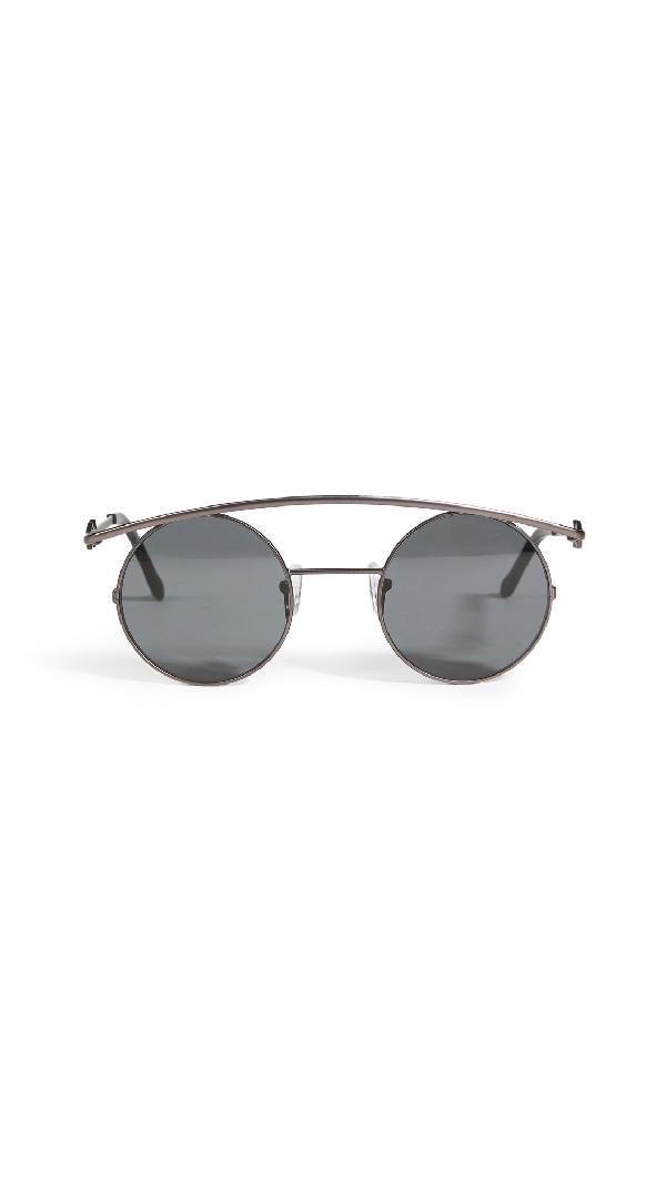 Karen Wazen Retro's Xl Sunglasses In Black