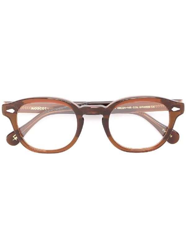 Moscot Lemtosh Square-frame Glasses In Brown