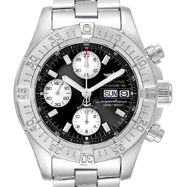 Breitling Aeromarine Superocean Chronograph Watch A13340 Box Papers In Not Applicable