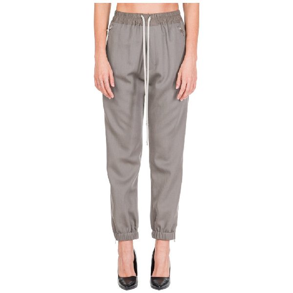 Rick Owens Drawstring Pants In Grey