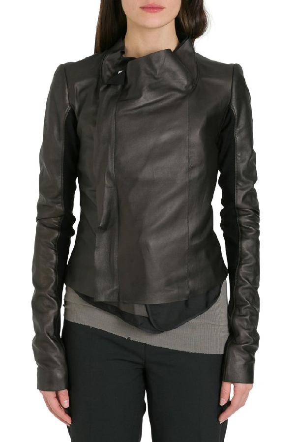 Rick Owens Wrap Jacket In Black