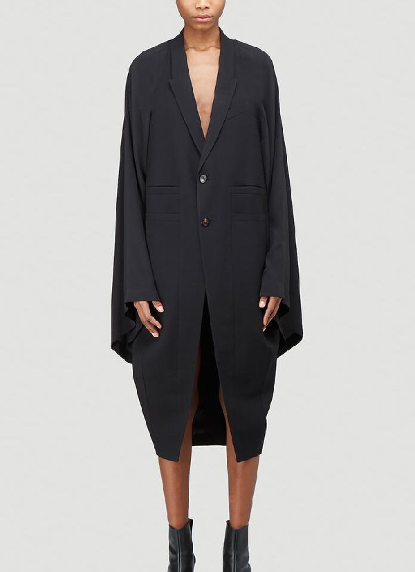 Rick Owens Cape Coat In Black