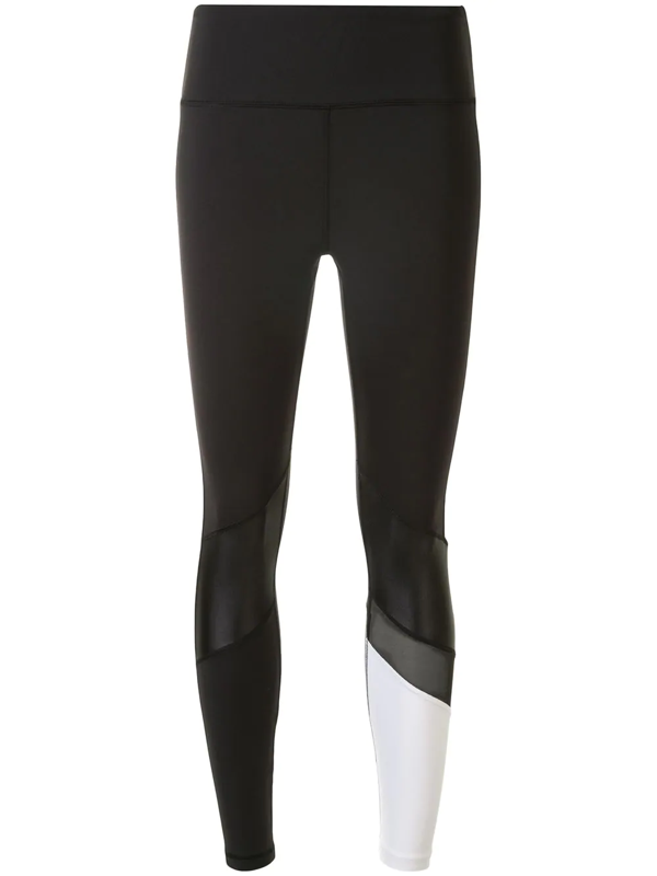 Alala Freestyle Colour Block Leggings In Black