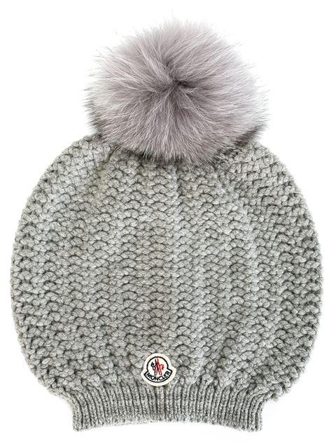 0ebaaa23bbd Moncler Bailey Slouchy Fur-Pom Beanie Hat