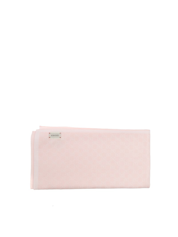 Gucci Cool Wool Blanket In Pink