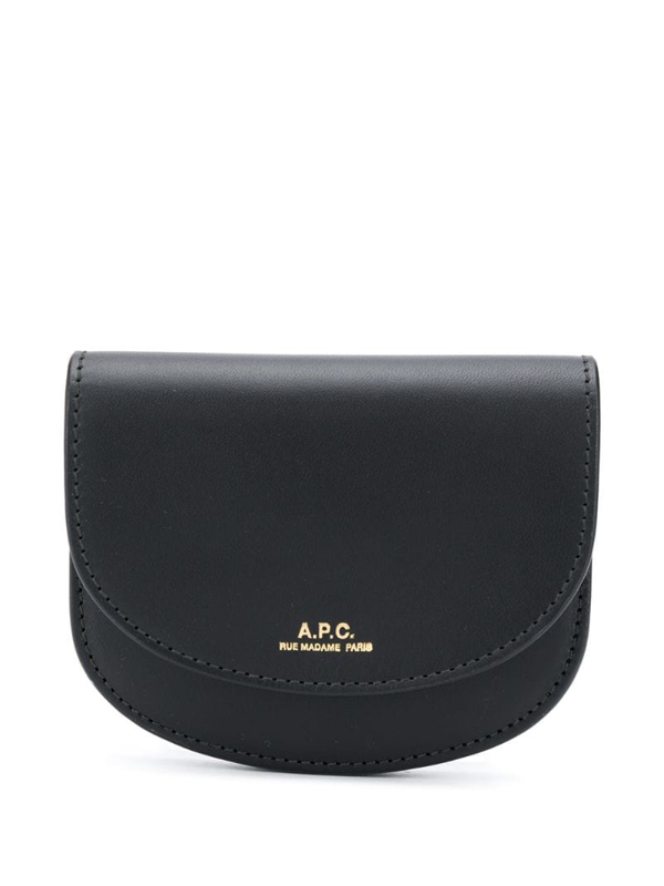 A.p.c. Genève Leather Wallet In Black