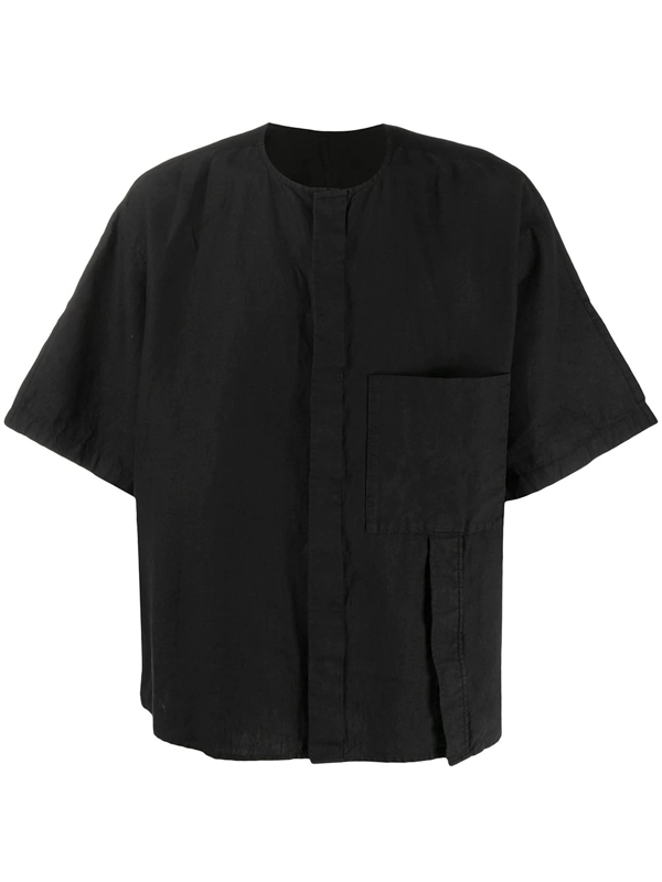 Attachment Oversized Shirt In Black