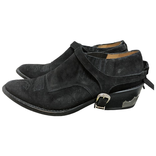 Pre-owned Toga Black Suede Ankle Boots