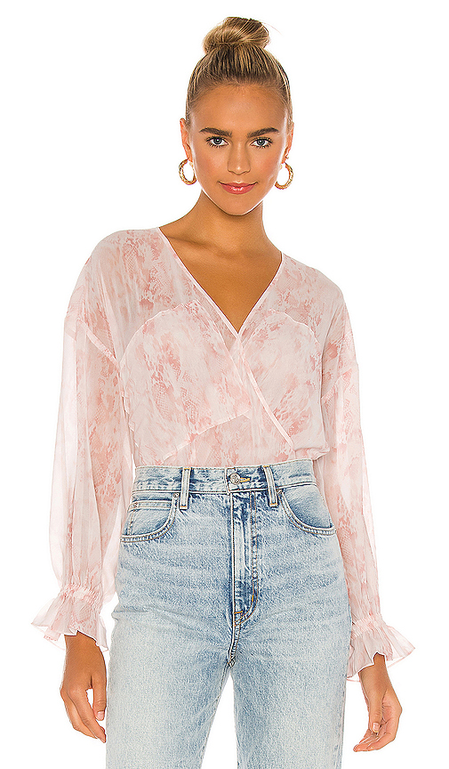 Allsaints Penny Masala Top In Soft Pink