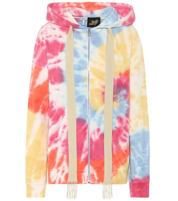 Loewe Paula's Ibiza Tie-dye Cotton Hoodie In Multicoloured