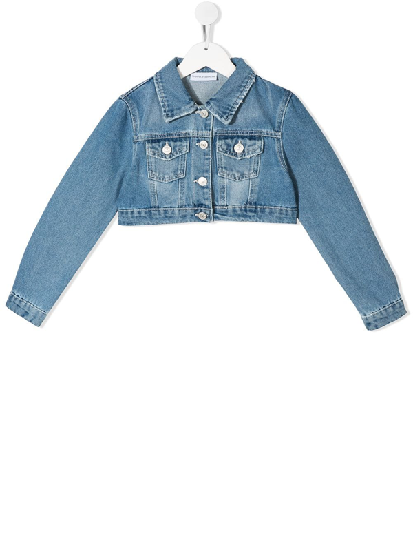Chiara Ferragni Kids' Flirting Jacket In Light Blue