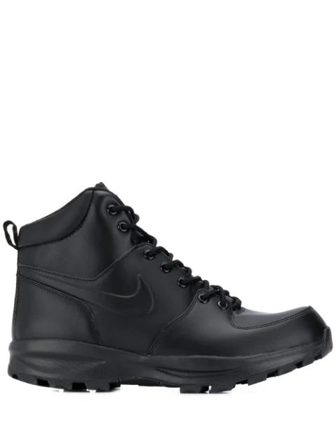 Nike Manoa Leather Boot Sneakers In Black