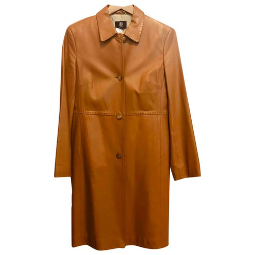 Pre-owned Bogner Beige Leather Trench Coat