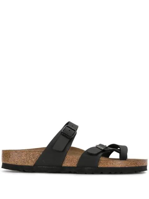 Birkenstock Mayari Thong Sandals In Black