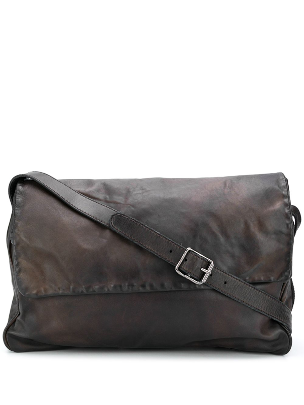 Numero 10 Large Leather Shoulder Bag In Brown