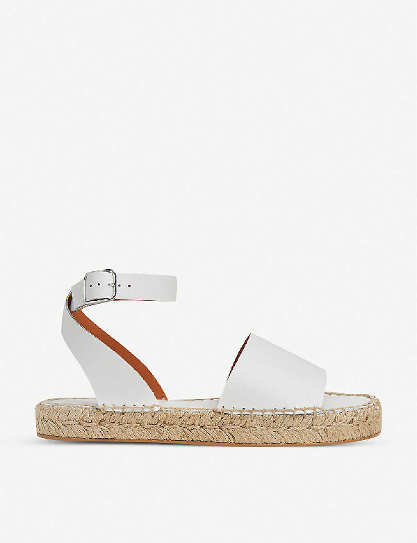 Whistles Lula Leather Espadrille Sandals In White