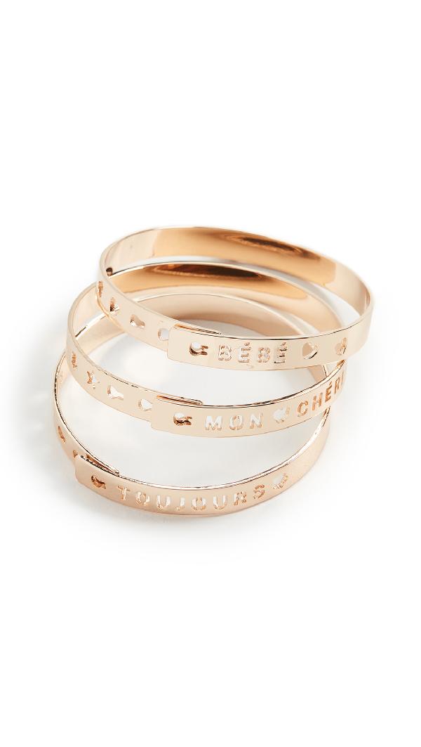 Dannijo Hawna 3-piece Bangle Bracelet Set In Gold