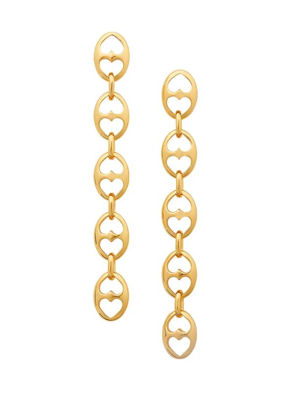 Kate Spade Women's Goldplated Duo Heart Link Linear Earrings