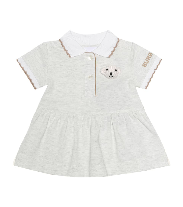 Burberry Baby Dress And Bloomers Set In Green