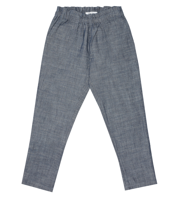 Bonpoint Kids' Nandy Chambray Pants In Blue