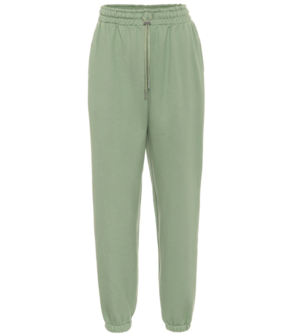 The Frankie Shop Vanessa Cotton-jersey Track Pants In Green