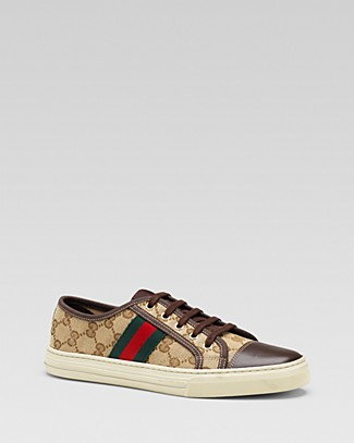 1ca50f441ee Gucci Gg Canvas   Leather Lace-Up Sneakers In Select Color