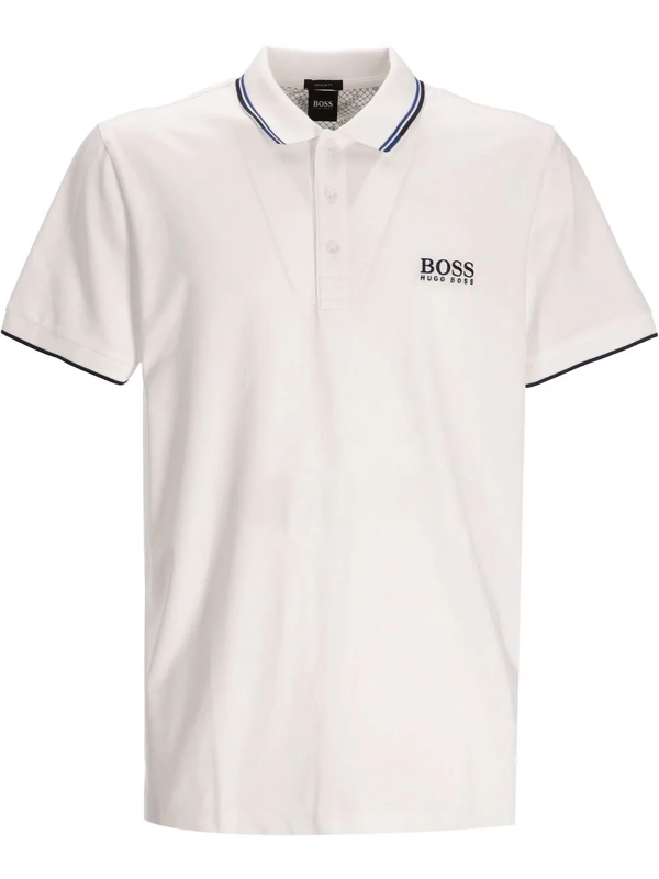 Hugo Boss Boss Men's Paddy Pro Active Stretch Golf Polo Shirt In Weiss