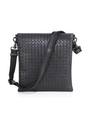 66159fc4a2 BOTTEGA VENETA. Men s Woven Zip-Top Messenger Bag ...