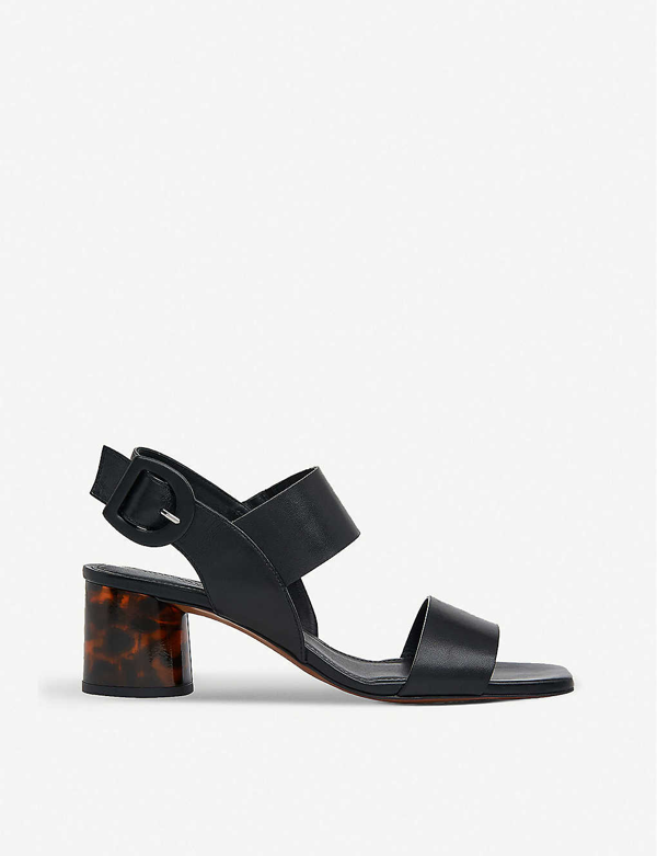 Whistles Adley Tort Leather Heeled Sandals