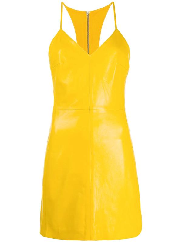 Manokhi Miya Textured Racerback Dress In Yellow