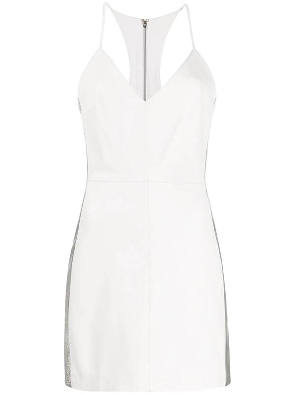 Manokhi Miya Contrast Panel Fitted Dress In White