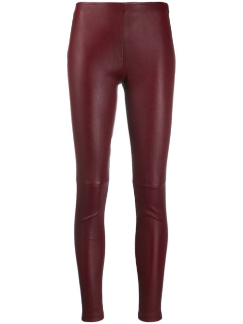 Manokhi Textured Style Fitted Leggings In Red